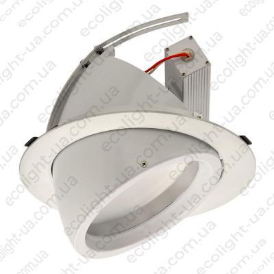 Світильник точковий врізний поворотний LED 30Вт 5000К 2300Лм