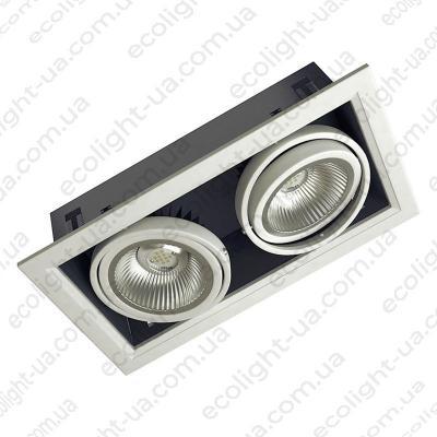 Вбудований карданний світлодіодний світильник 28Вт 5000К 2650Лм
