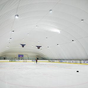 Освещение LED ледового катка на ВДНХ в Киеве