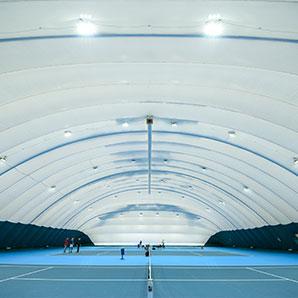 LED освещение 3-х теннисных кортов в Киеве
