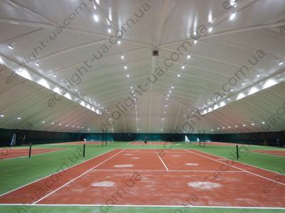 LED освещение 6-ти теннисных кортов в клубе Восход г. Днепр