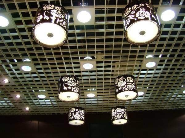 світлодіодні led світильники для стелі грильято