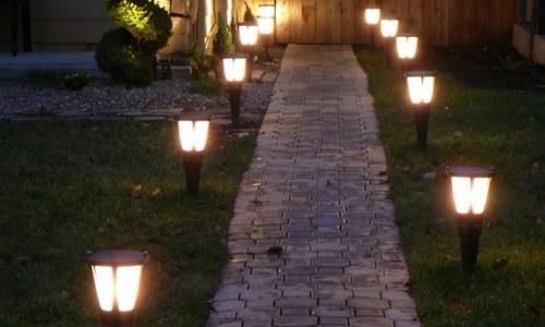 Декоративное освещение дорожек
