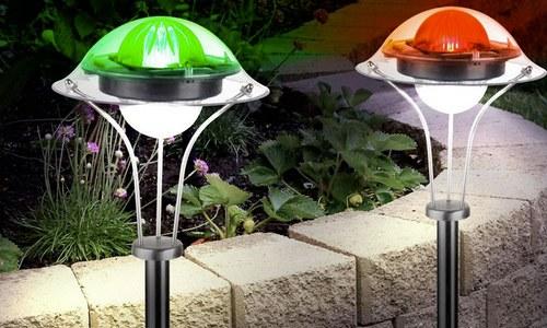 Вуличні світильники з сонячними батареями