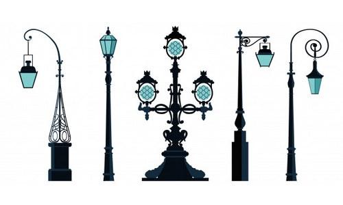 Торшерные уличные светильники
