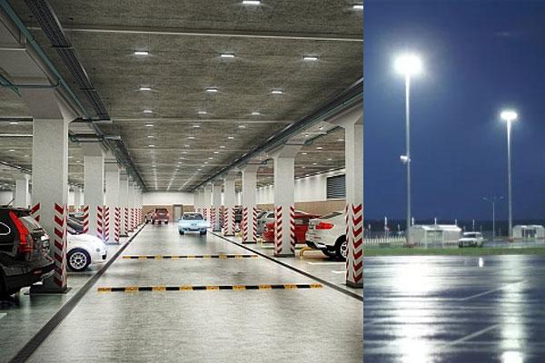 Светодиодное освещение парковок